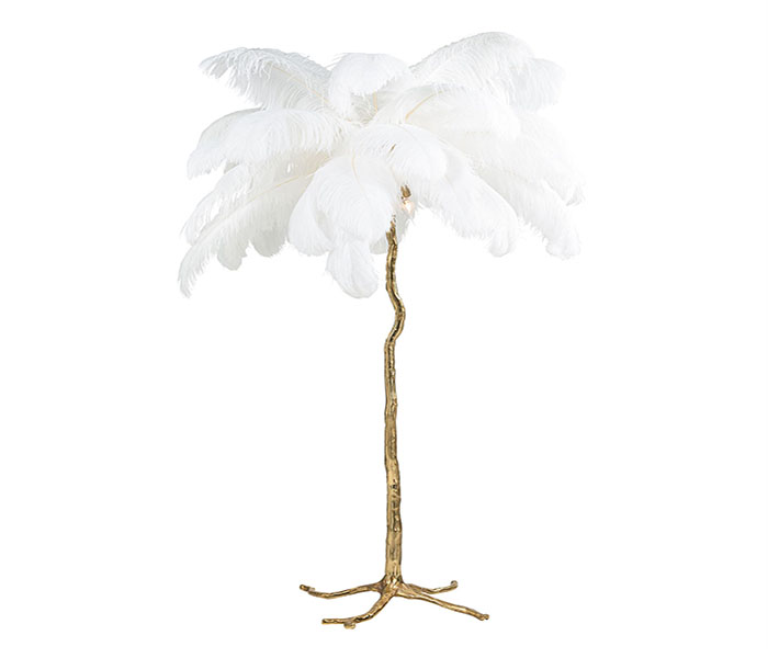 Burlesque Floor Lamp-White