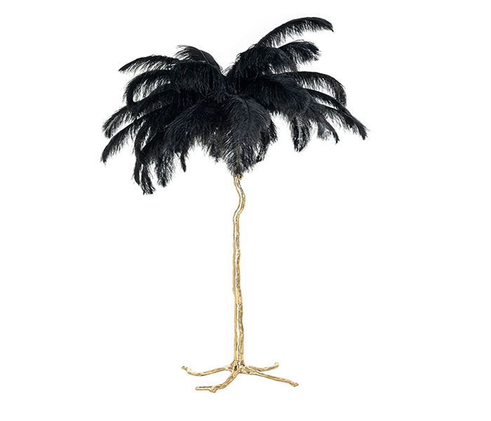Burlesque Floor Lamp-Black