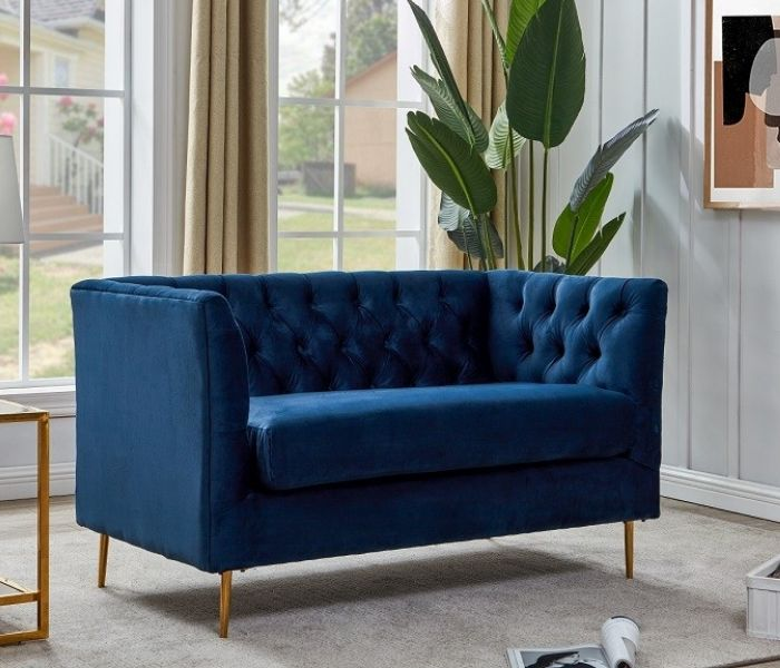 Belle Blue 2 Seater Sofa