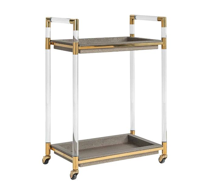 Calesta Faux Shagreen Look Trolley
