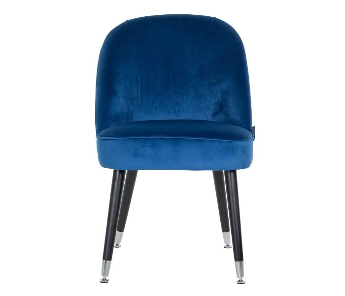Julius Blue Dining Chair With Silver Footcap