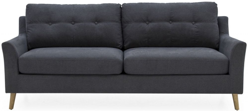 Olten 3-Seater Charcoal Sofa