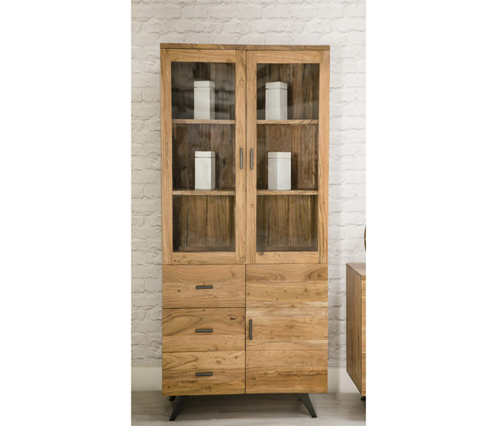 Augusta Display Cabinet- 3 Doors and 3 Drawers