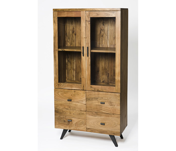 Augusta Display Cabinet- 2 Doors and 4 Drawers