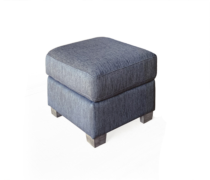 Beckett Footstool- Blue