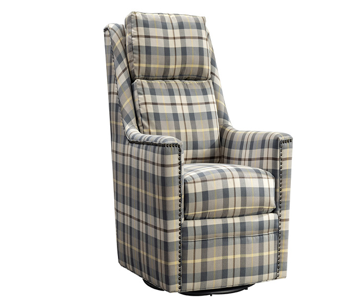 Canterbury Oxford Check Swivel Chair
