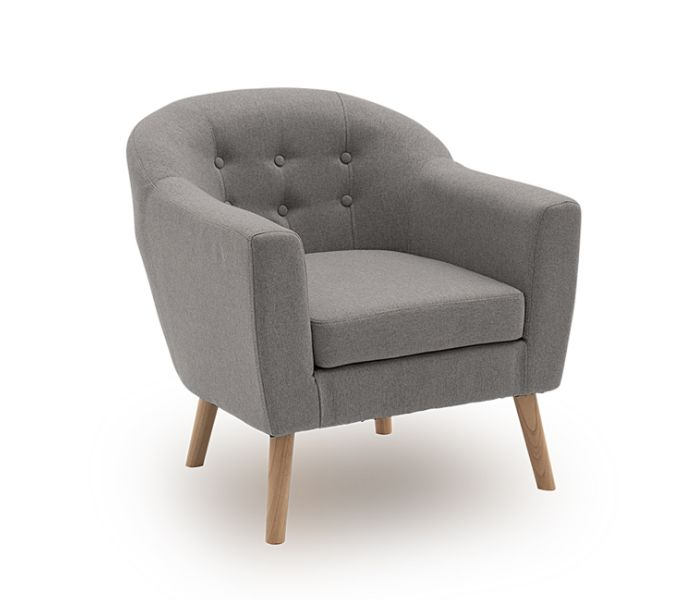 Perig Accent Light Grey Chair