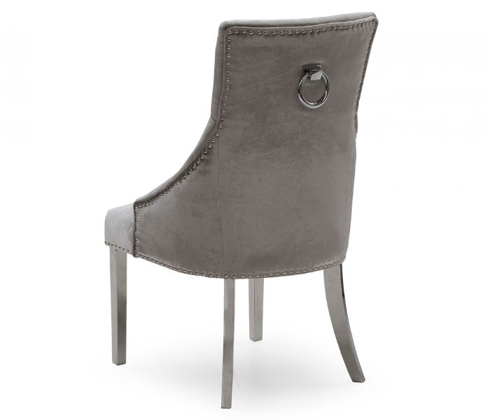 Belvedere Pewter Dining Chair