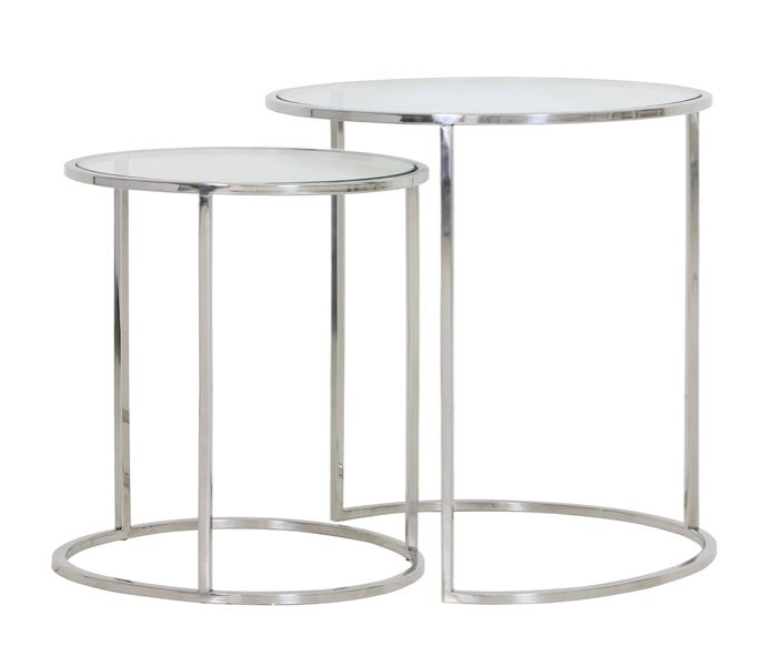 Duarte Silver Side Table