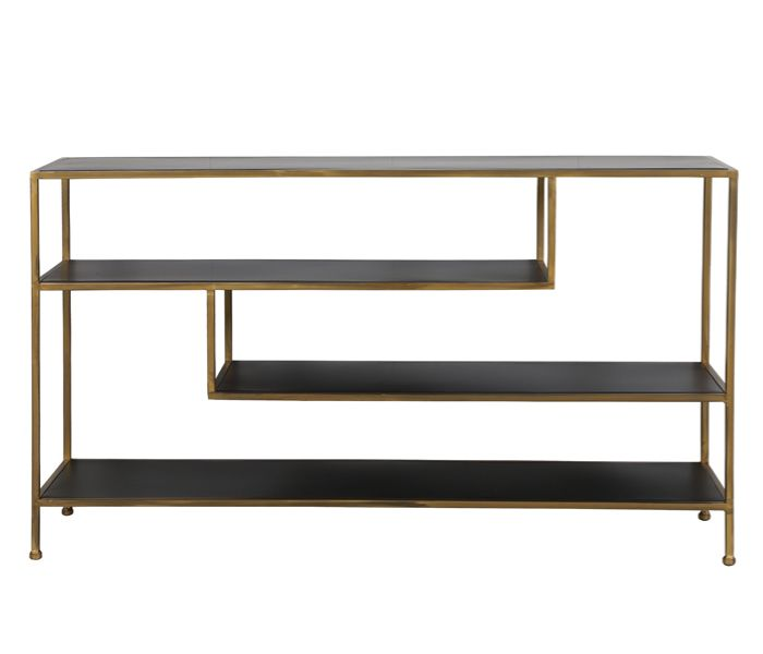 Ylaya Black & Gold Sideboard