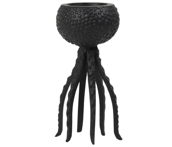 Octopus Black Candle Holder