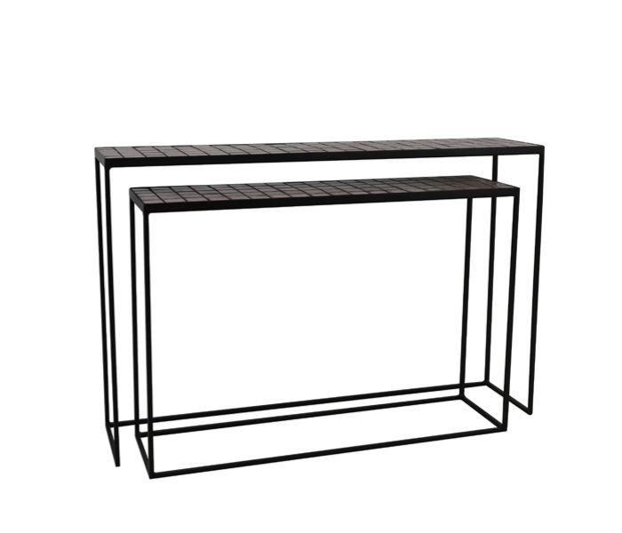 Manjuto Old Pink Console Table-Set of 2
