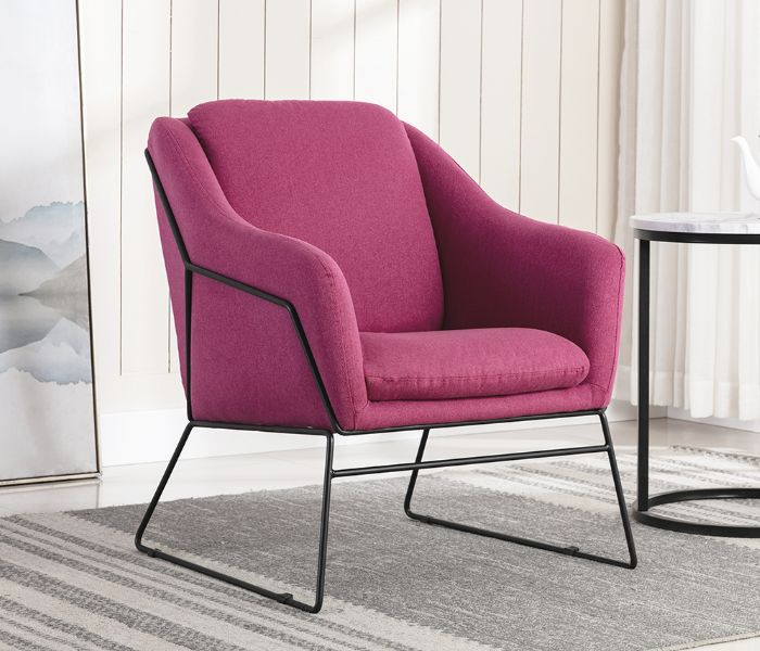 Karl Pink Accent Chair