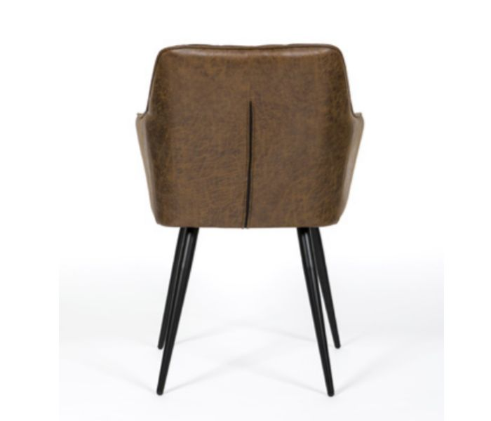 Charlie Carver Antique Brown Dining Chair