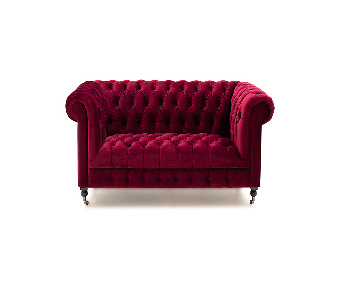 Darby 2 Seater Sofa -Berry