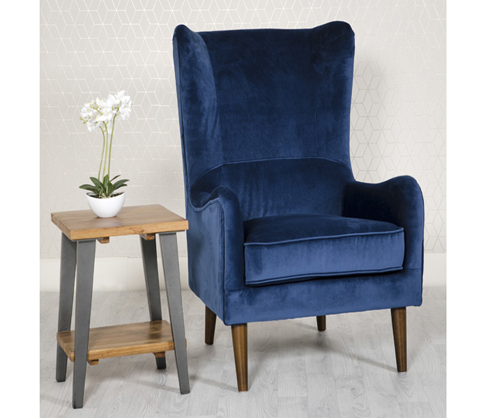 Freya Accent Chair-Blue