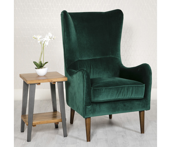 Freya Accent Chair-Green