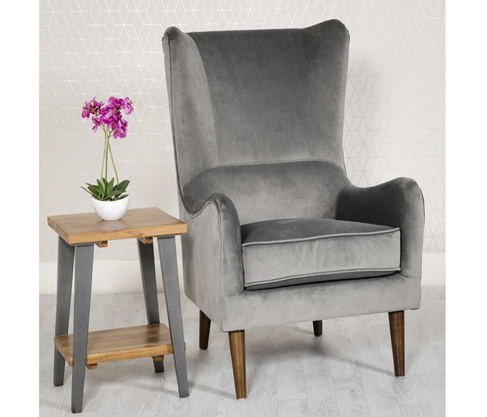 Freya Accent Chair-Grey