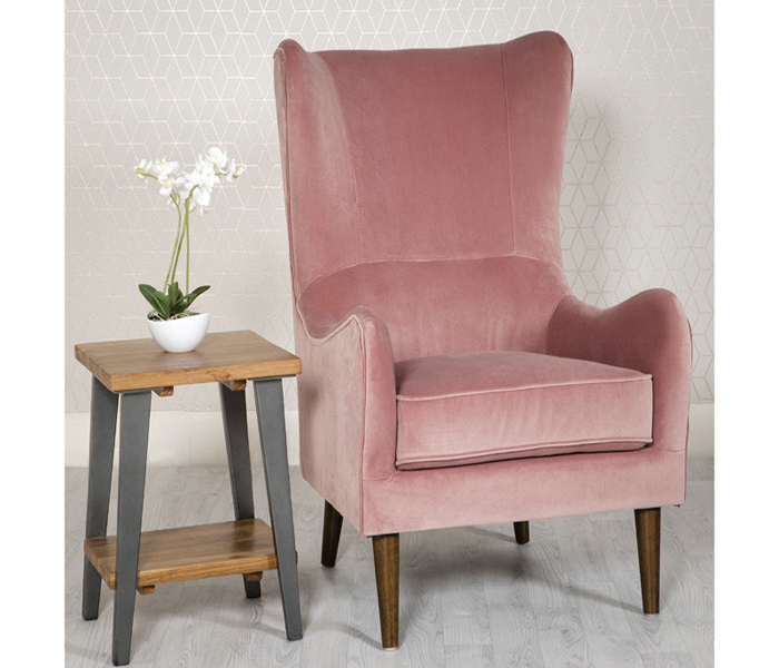 Freya Accent Chair-Pink