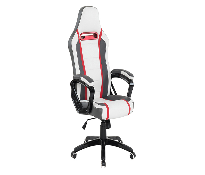 Landon Gaming Office Chair - White, Grey & Red