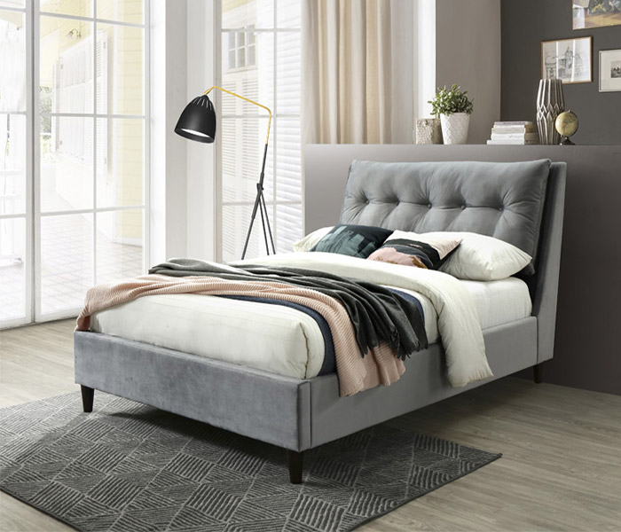 5' Megan Bed-Grey