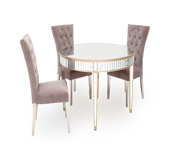 Rosa Round Dining Table & Pembroke Chair Dining Set