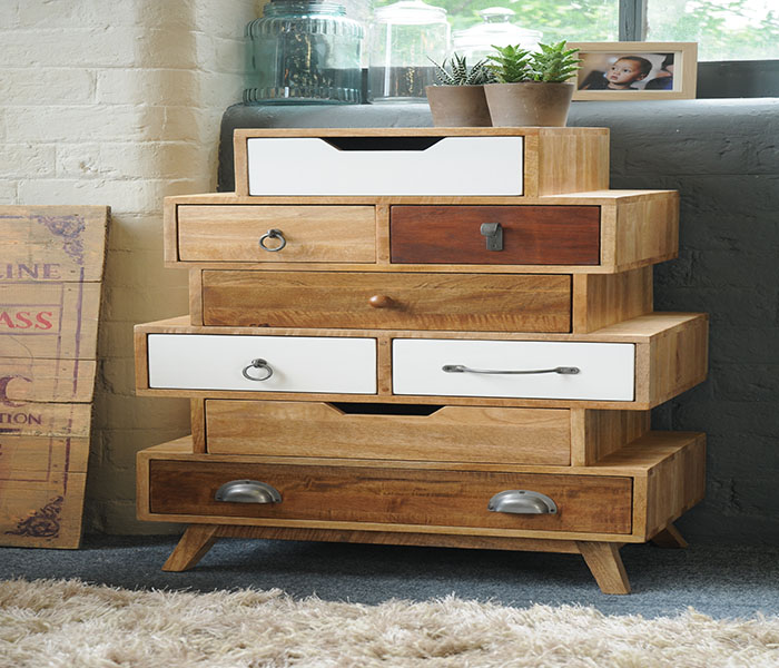 Vintage Staggered Chest-8 Drawers