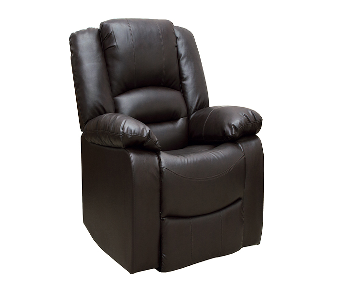 Barletto 1 Seater Brown Recliner Sofa