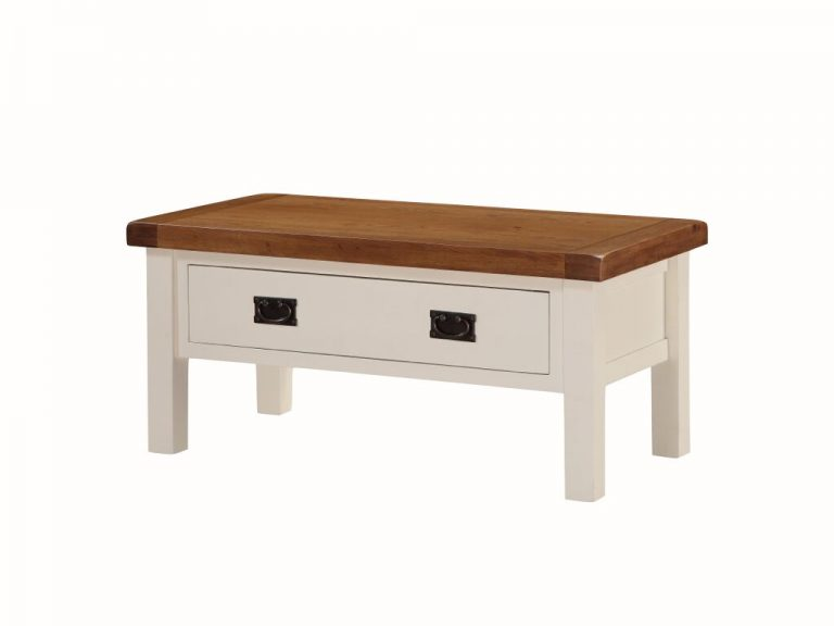 Heritage Coffee Table With Drawer- Large
