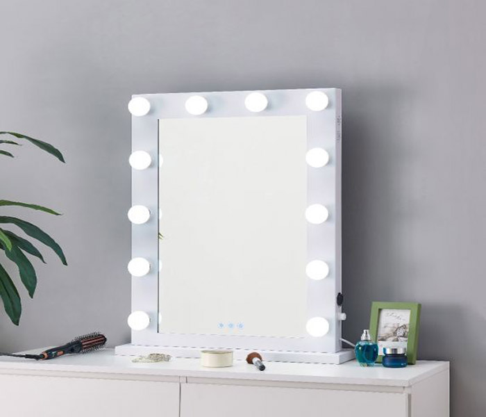 Desktop Hollywood Mirror-White