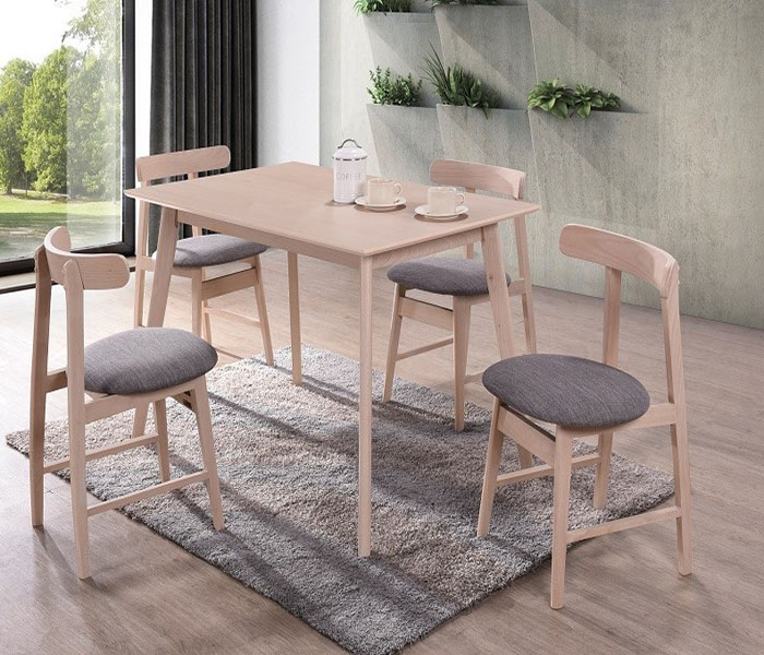 Isla Dining Set: Isla Rectangle Dining Table & Isla Curved Dining Chairs