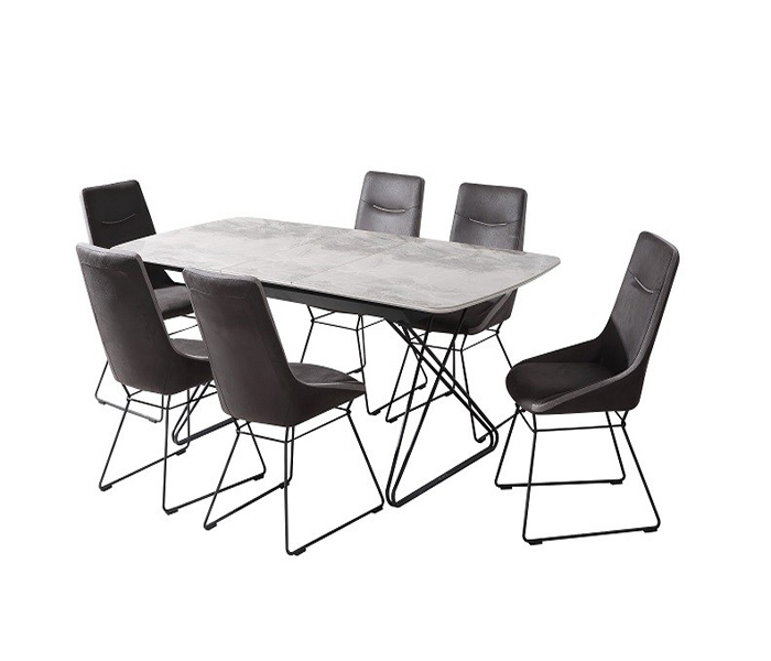 Nero Dining Set: Nero Ext. Dining Table & Mirko Chairs