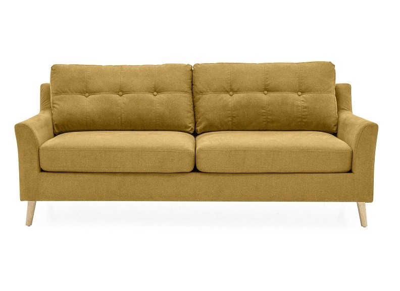 Olten 3-Seater Citrus Yellow Sofa