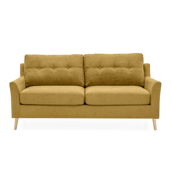 Olten 2-Seater Citrus Yellow Sofa