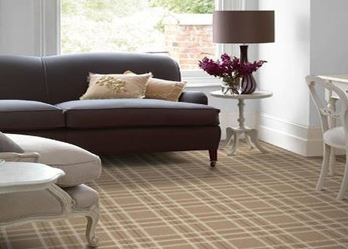 Brintons Pure Living Earth Plaid Carpet room view