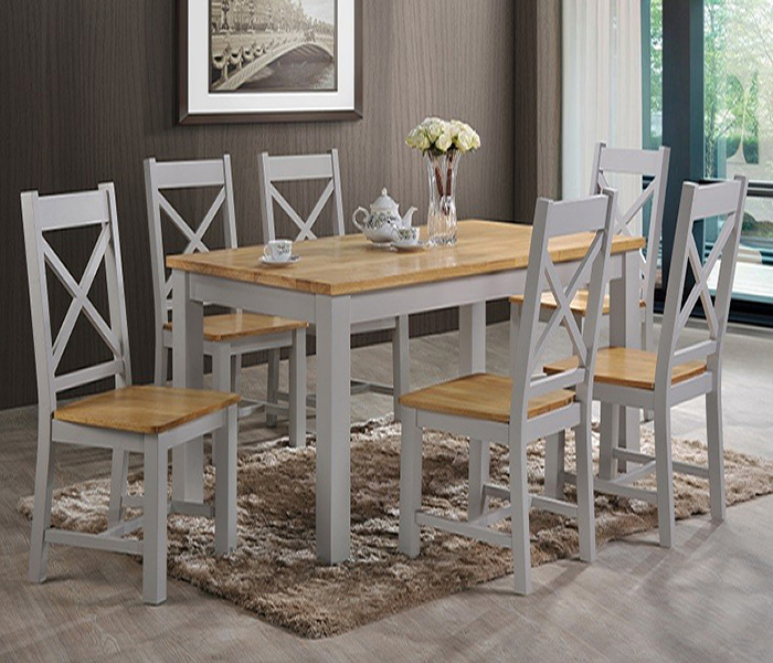 Rochester Grey & Oak Dining Set