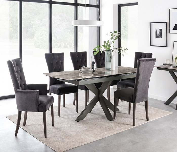 Pembroke Dining Charcoal Armchair